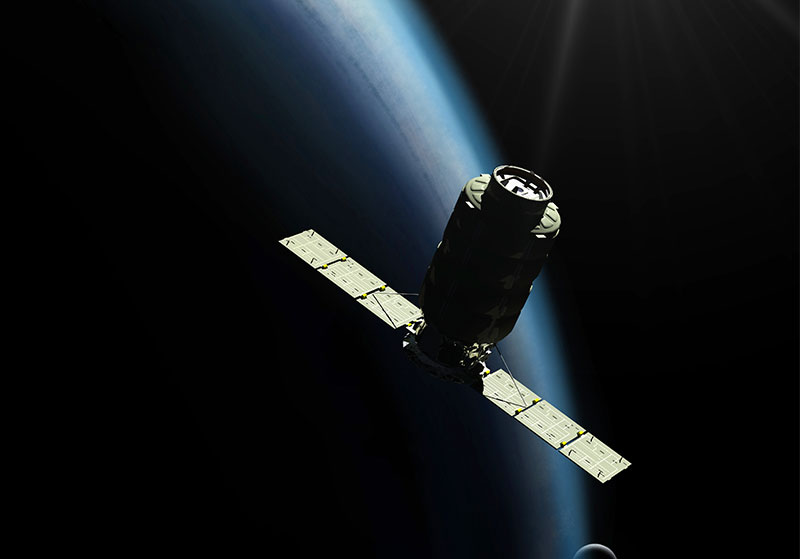 Cygnus Cargo Spacecraft in orbit