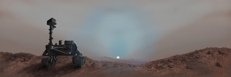 Curiosity Rover at Sunset