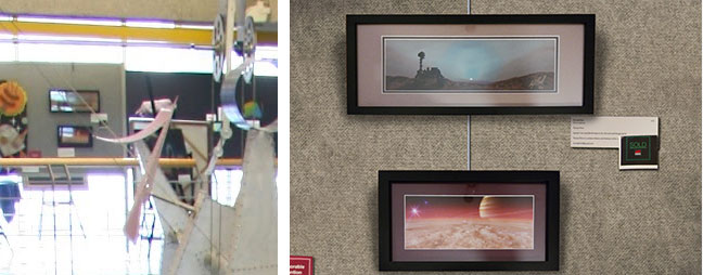 My artwork was on the third floor of the Lunar and Planetary Laboratory of the University of Arizona.