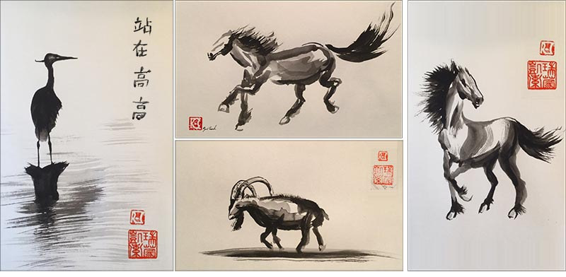 Chinese-brush painting