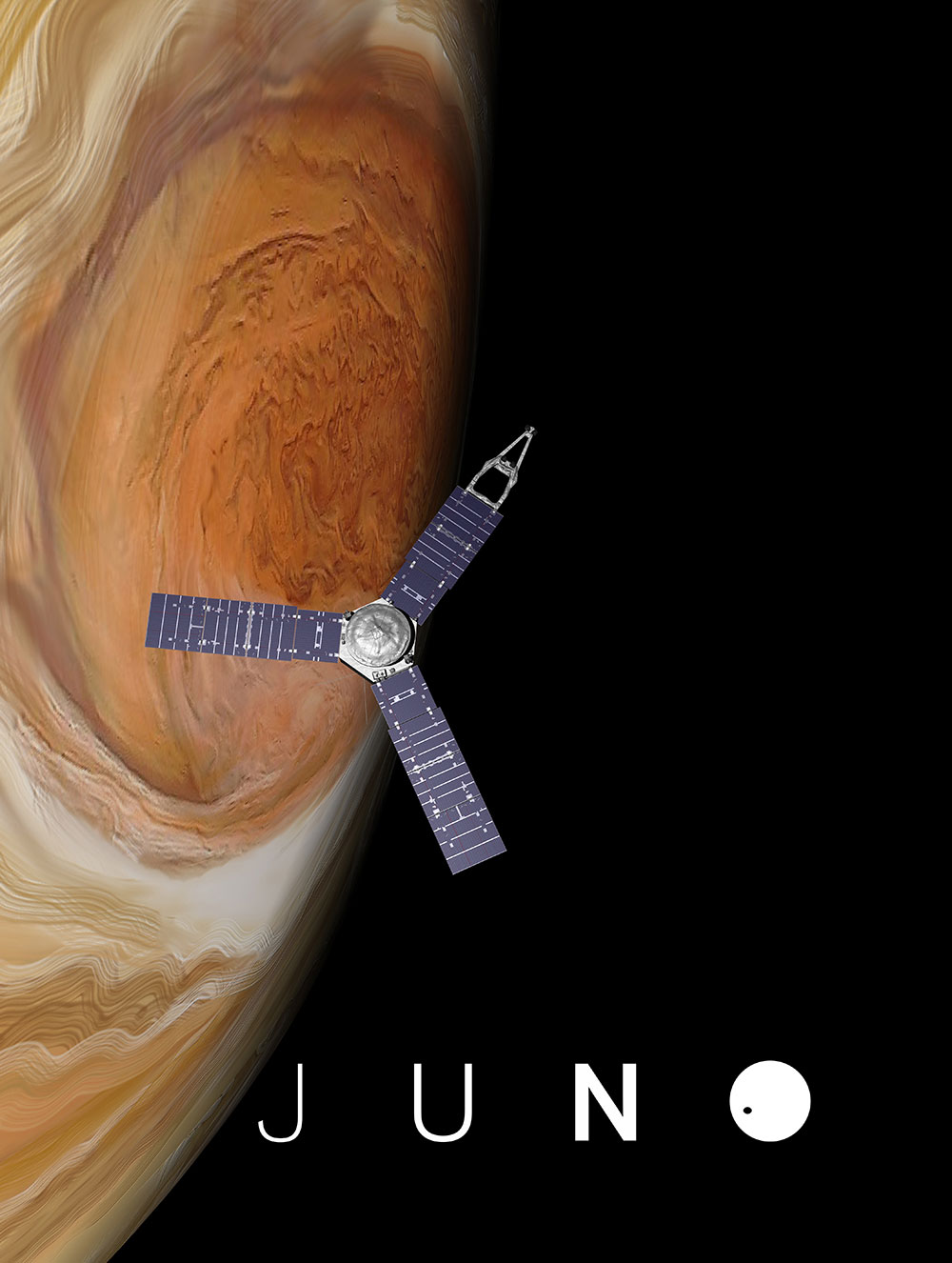 Juno over the Great Red Spot