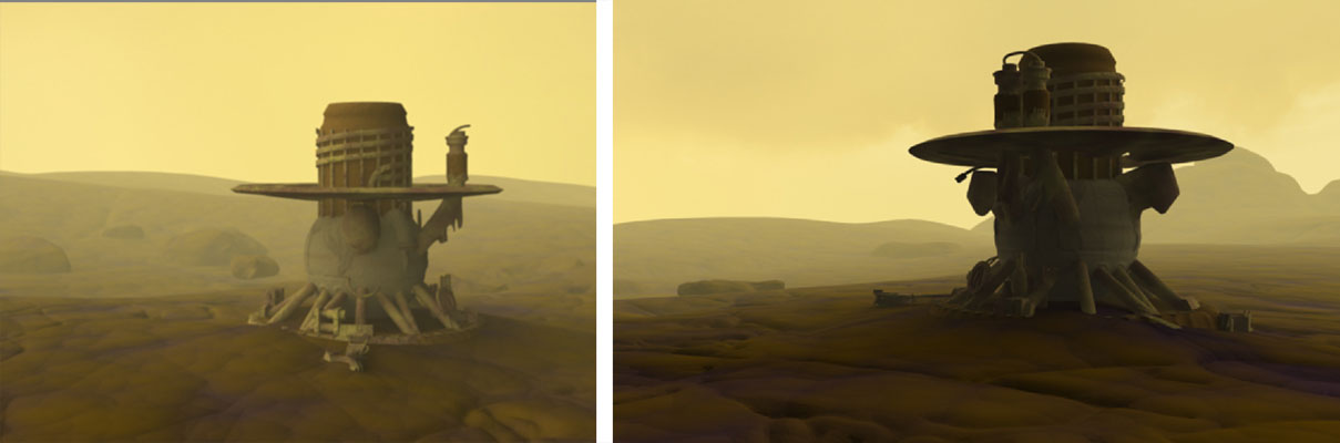 Two Illustrations of the Soviet Verera Probe on Venus