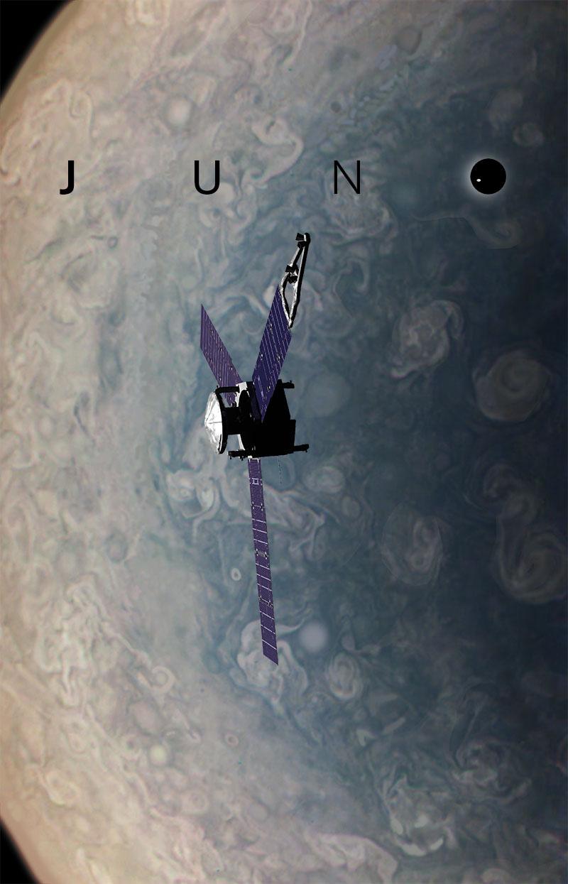 Juno Probe over Jupiter